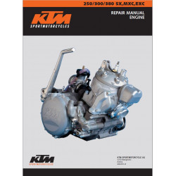 Ktm 250 300 380 Sx Mxc Exc Manuales Engine 1999 2003