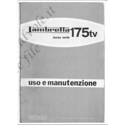 Lambretta 175 Tv 3 Serie Uso E Manutenzione