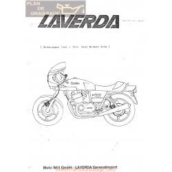 Laverda 1000 1200 J Version 1981 1982 Despiece Anexo Serie 1