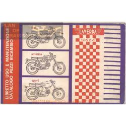 Laverda 125 Trail America Sport Ver1950 1960 Despiece Y Manual Entrenimiento Italiano