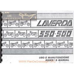 Laverda 350 500 Version 1978 1982 Manual Uso Y Mantenimiento It Gb
