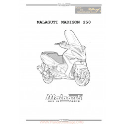 Malaguti Madison 250 Service Manual