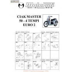 Malaguti R0014 Ciak Master 50 4t Euro 2