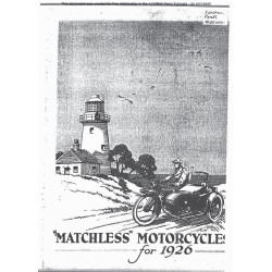 Matchless 1926 Sales Brochure