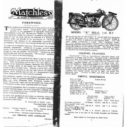 Matchless 1927 Sales Brochure