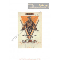 Matchless 1928 Sales Brochure