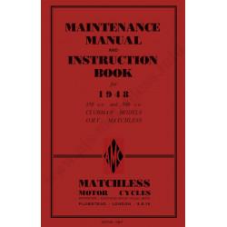 Matchless 1948 G3l G80l Manual De Intretinere