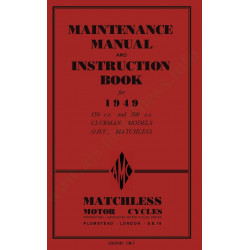 Matchless 1949 G3l G80l Manual De Intretinere
