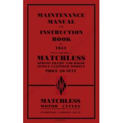 Matchless 1952 G3l G3l S C Cs G80 Manual De Intretinere