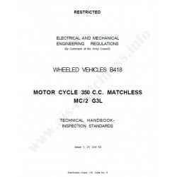 Matchless 1953 G3l Army Manual De Intretinere