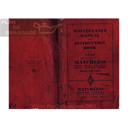 Matchless 350 500 M 1952 Singles Instruction Manual