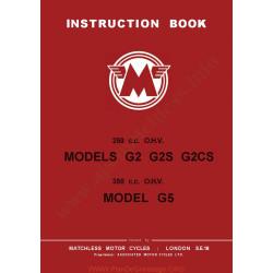 Matchless G2 G2s G2cs G5 Manual De Intretinere