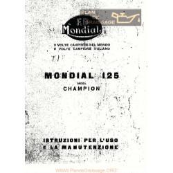 Mondial Champion 125 Ma 3 6 Valve