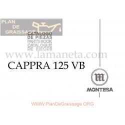 Montesa Cappra 125 Vb Catalogo De Piezas