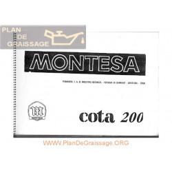 Montesa Cota 200 Despiece