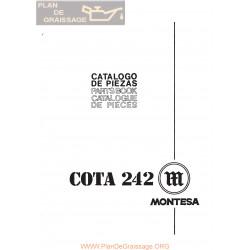 Montesa Cota 242 Mod 39 Despiece