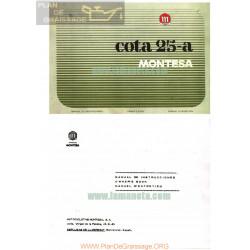 Montesa Cota 25 A Manual Instrucciones