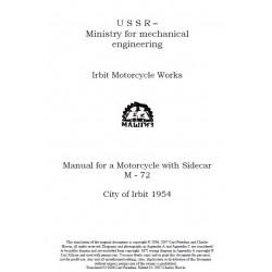 Moscow M 72 1954 Manual De Reparatie