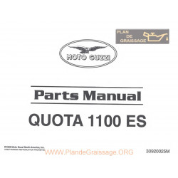 Moto Guzzi 1100 Quota 1999 Parts List
