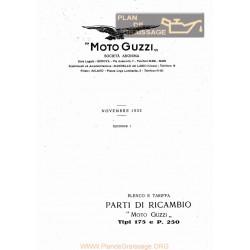 Moto Guzzi 175 E P250 Cat Ricambi