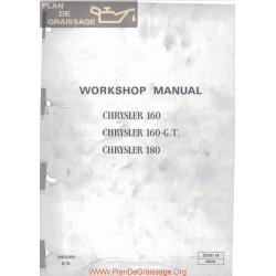Chrysler 160 160 G T 180 1970 Workshop Manual