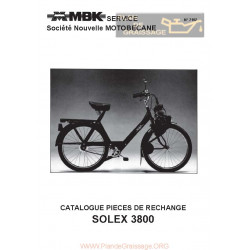 Motobecane 18 Catalogue Pieces Detachees Solex 3800 Mbk