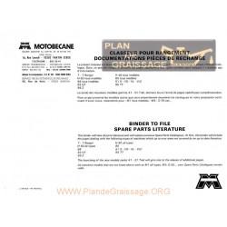 Motobecane 29 Catalogue pieces detachees