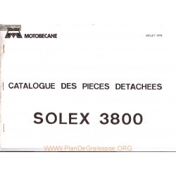Motobecane 3800 Catalogue Pieces
