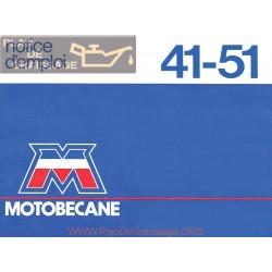 Motobecane 41 51 Notice D Emploi