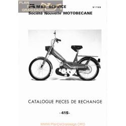 Motobecane 41 S 7189 Catalogue Pieces Rechange