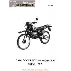 Motobecane 50 Ew 79 Z 7173 Catalode Pieces