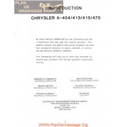 Chrysler Atgs A 404 413 415 470 Torqueflight