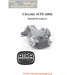 Chrysler Atra 41te A 604 Rebuild