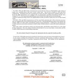 Chrysler Atsg 46 47 48 Re Automatic Trasmission 2011 Repair Manual