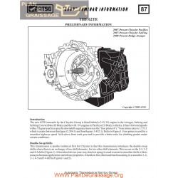 Chrysler Atsg 62 Te Techtran Transmission 2009 Rebuild Manual