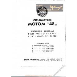 Motom Motom 48 Cat Ricambi Del 1954