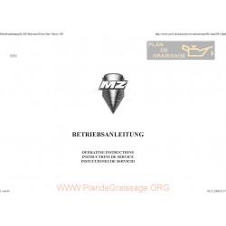 Mz 500 Silverstar Classic 1993 Manual De Intretinere