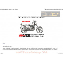 Mz 500r 1991 Manual De Intretinere