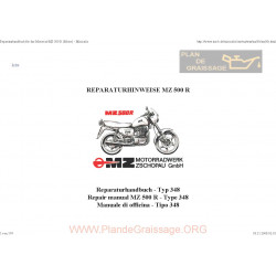 Mz 500r 1991 Manual De Reparatie