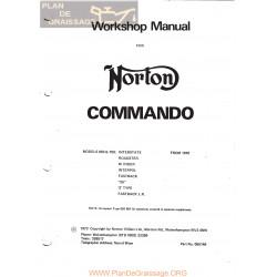 Norton Commando 750 1970 Workshop Manual