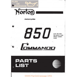 Norton Commando 850 Mkii Despiece