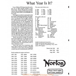 Norton Engine Frame Numbers