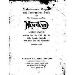 Norton Es2 50 88 99 650 750 Atlas Instruction Book