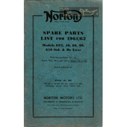 Norton Es2 50 88 99 650 Spares Parts 1961 1962