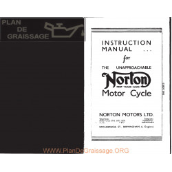 Norton H 16 H18 Es2 Manual Instrucciones Ingles
