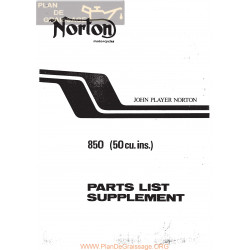 Norton John Player 850 Despiece De Fibras Ingles