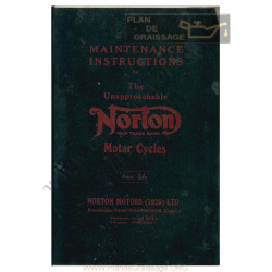 Norton Maintenance Instructions 1926 1930