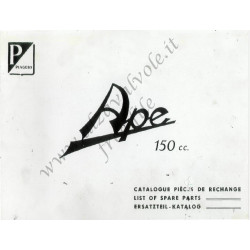 Piaggio Ape 150b 150cc Catalogue Pieces