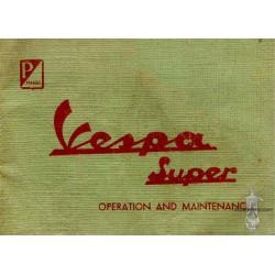 Piaggio Vespa 125 150 Super Operation Maintenance