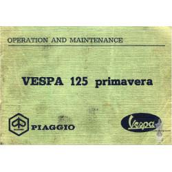 Piaggio Vespa 125 Primavera Operation Maintenance